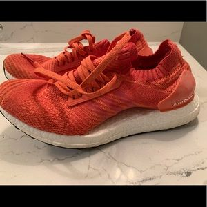 Adidas UltraBoost X orange women's sneaker.